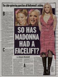 Teria Madonna entrado na faca?