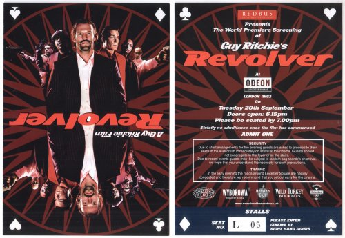REVOLVER STATHAM LIOTA GUY RITCHIE PHOTO PAPER FLYER MINI POSTER NOT A movie