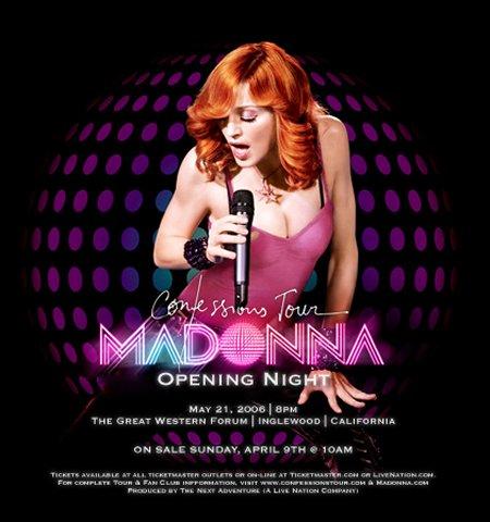 madonna confessions tour poster - photo #7