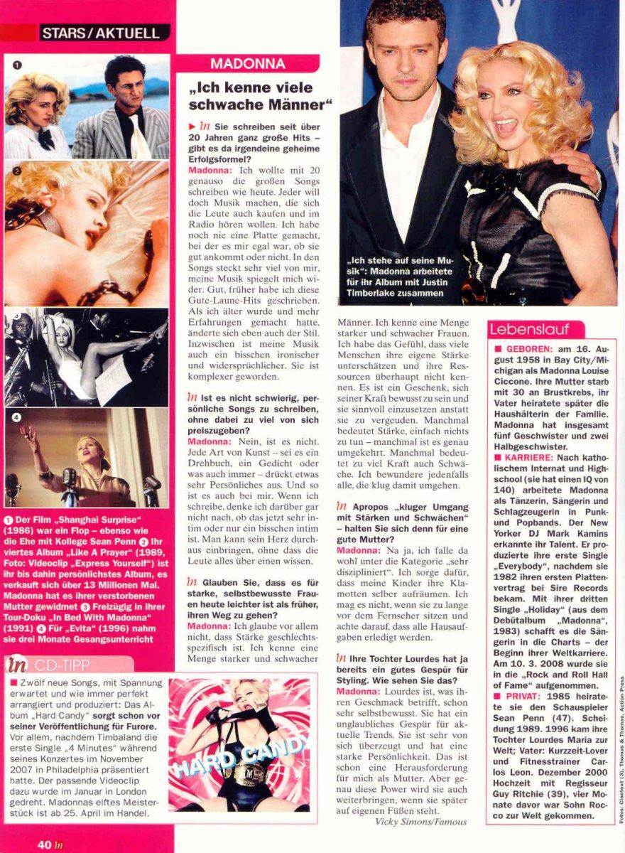 Madonnalicious tour spoiler free edition magazines sunday 20 april 2008 solutioingenieria Images