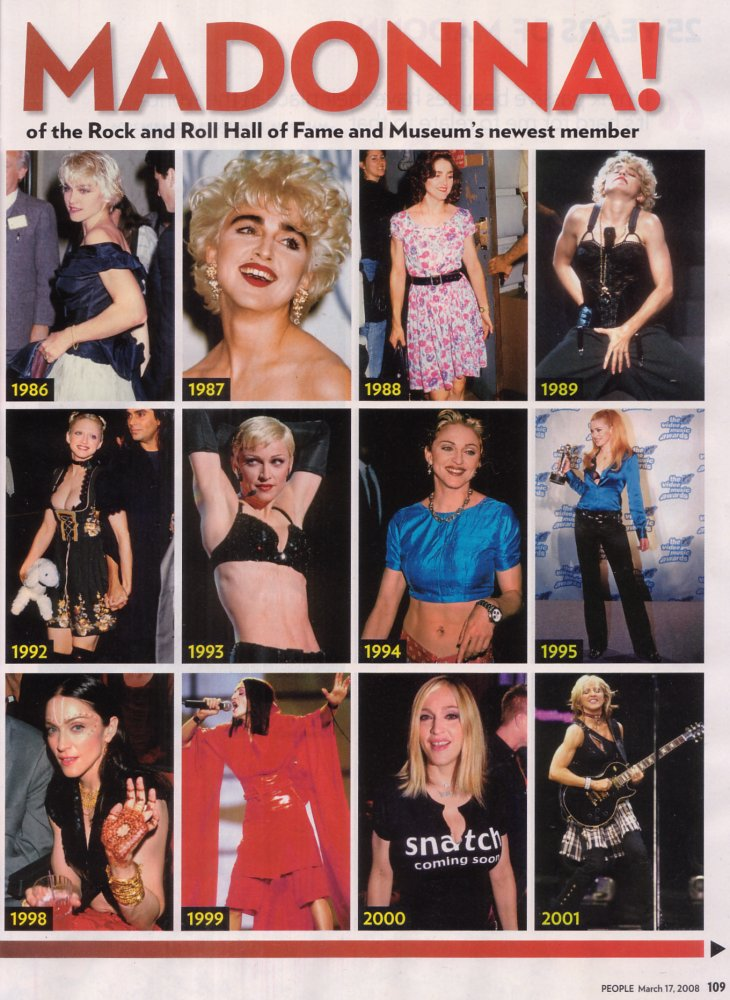 Madonna Through The Years | Overknees