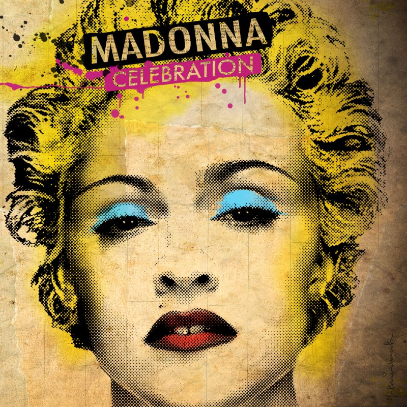 The album cover of Madonna's greatest hits CD Celebration was released today