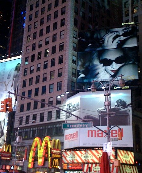 new york times square billboard. MDG Billboard in Times Square