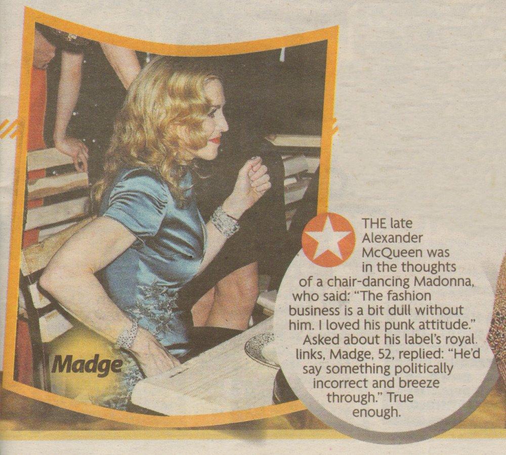 dailymirror 040511 dance Madonna Dans La Presse...{ACTUALISE} !!!