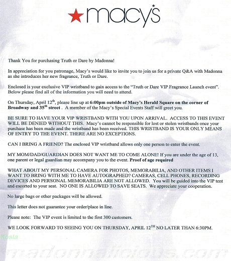 truthordare_macys_letter_news Vip Letter Template on vip button, vip flyer, vip airport welcome sign,